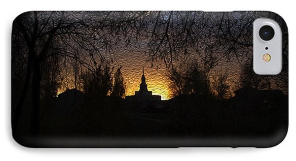 Temple Silhouette  IPhone Case by Gloria Pasko