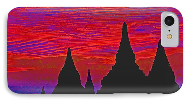 Temple Silhouettes Phone Case by Dennis Cox