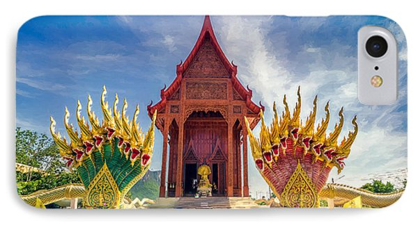 Temple Thailand IPhone Case by Adrian Evans