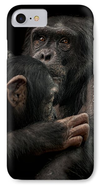 Chimpanzee iPhone 7 Case - Tenderness by Paul Neville