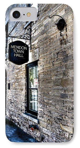Mendon Town Hall IPhone Case by William Norton
