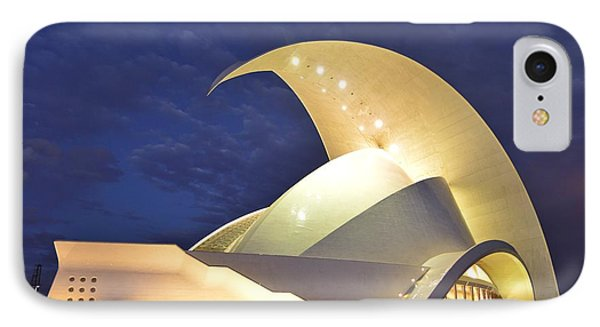 Tenerife Auditorium At Night IPhone Case by Marek Stepan