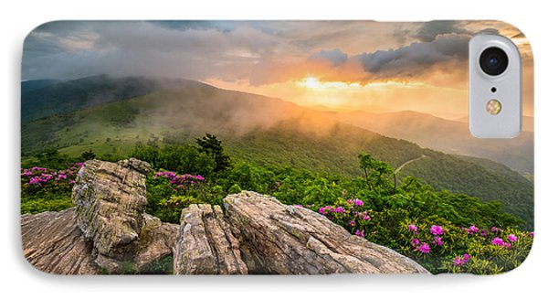 Mountain Sunset iPhone 7 Case - Tennessee Appalachian Mountains Sunset Scenic Landscape Photography by Dave Allen