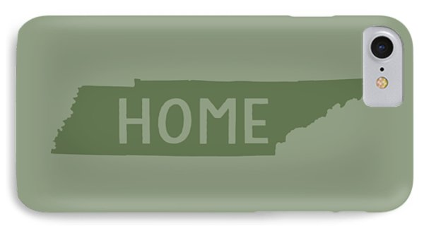 IPhone Case featuring the digital art Tennessee Home Green by Heather Applegate