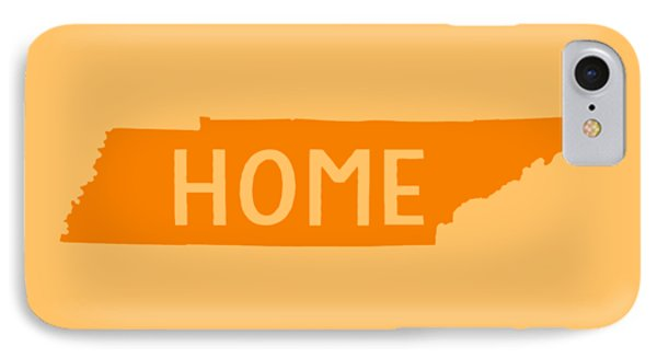 IPhone Case featuring the digital art Tennessee Home Orange by Heather Applegate