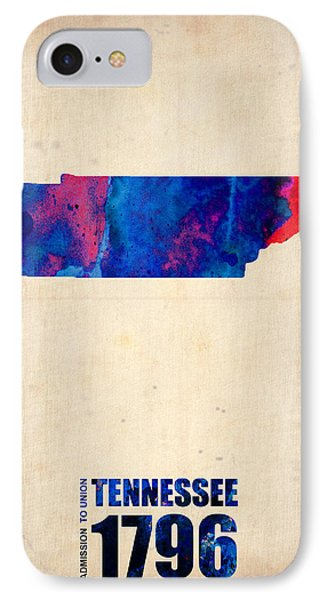 Tennessee Watercolor Map IPhone Case by Naxart Studio