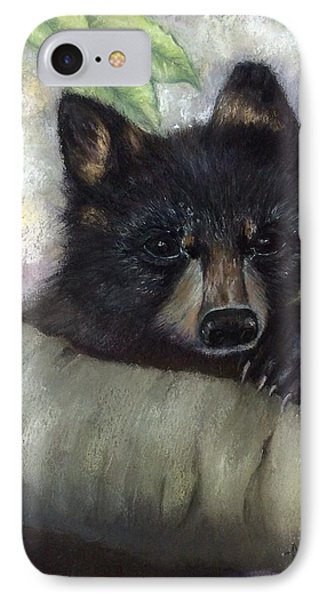 IPhone Case featuring the painting Tennessee Wildlife Black Bear by Annamarie Sidella-Felts