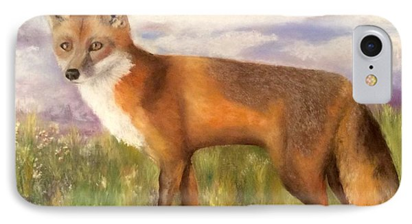 IPhone Case featuring the painting Tennessee Wildlife Red Fox by Annamarie Sidella-Felts