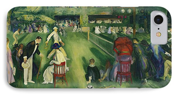 Tennis At Newport IPhone Case by George Bellows