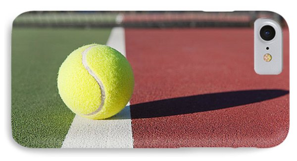 Tennis Ball Sitting On Court Phone Case by Thom Gourley/Flatbread Images, LLC
