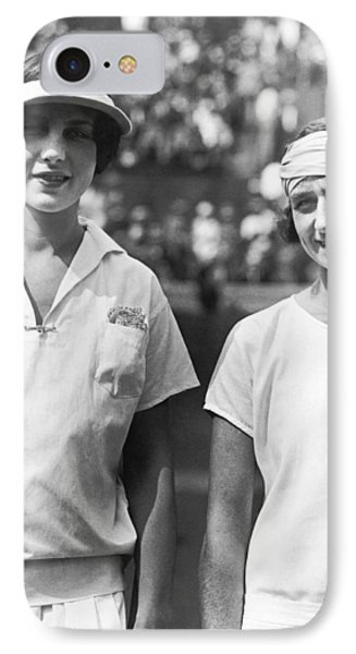 Tennis Champion Helen Wills IPhone Case by Underwood Archives