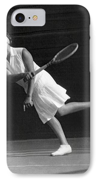 Tennis Champion Kitty Godfree IPhone Case by Underwood Archives