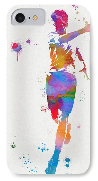 Tennis Player Paint Splatter IPhone Case by Dan Sproul