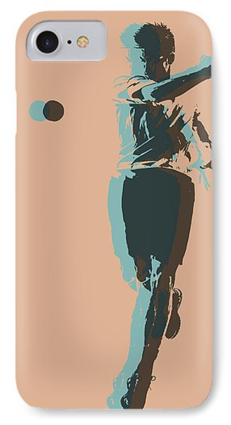 Tennis Player Pop Art Poster IPhone Case by Dan Sproul