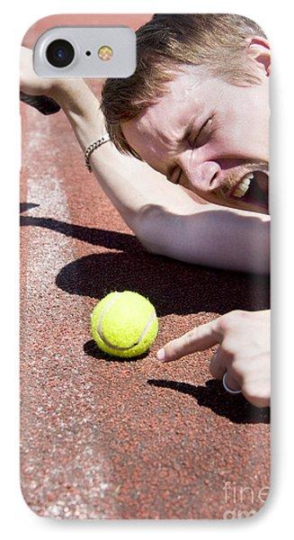 Tennis Player Tantrum IPhone Case