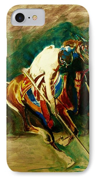 Tent Pegging Sport IPhone Case by Khalid Saeed