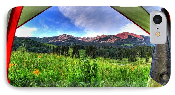 Tent View IPhone Case by Scott Mahon