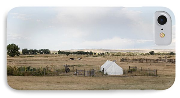 IPhone Case featuring the photograph Tents At Fort Laramie National Historic Site In Goshen County by Carol M Highsmith