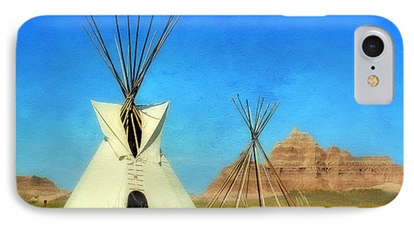Tepee In Badlands IPhone Case