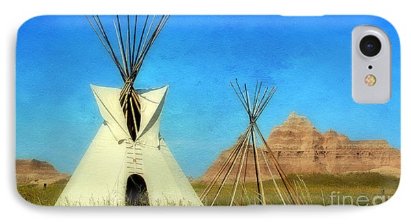 Tepee In Badlands IPhone Case by Teresa Zieba