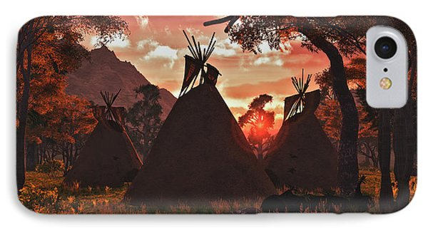 Tepee Sunset IPhone Case by Walter Colvin