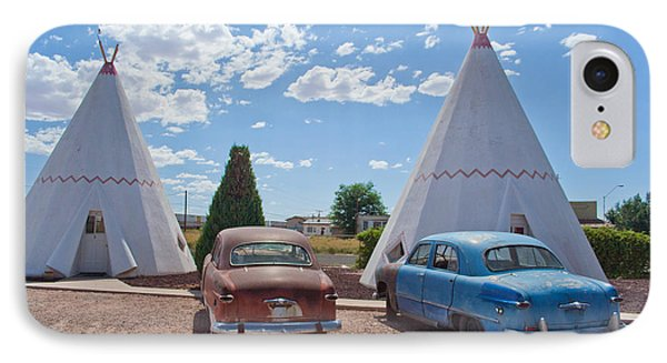 Tepee With Old Cars IPhone Case by Matthew Bamberg