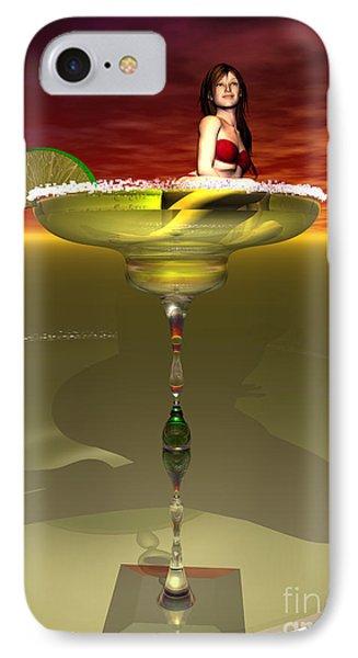 Tequila Sunrise IPhone Case by Sandra Bauser Digital Art
