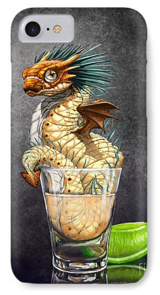 IPhone Case featuring the digital art Tequila Wyrm by Stanley Morrison