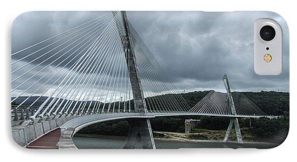 Terenez Bridge I IPhone Case by Helen Northcott