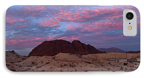 IPhone Case featuring the painting Terlingua Sunset by Dennis Ciscel