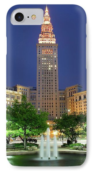 Terminal Tower IPhone Case by Frozen in Time Fine Art Photography