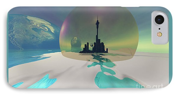 Terra-moon Phone Case by Corey Ford