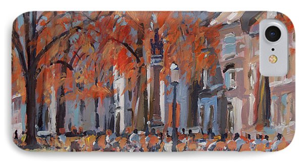 Terrace In The Grand Tanners Street Maastricht IPhone Case by Nop Briex