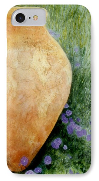 IPhone Case featuring the mixed media Terracotta Urn by Jan Amiss