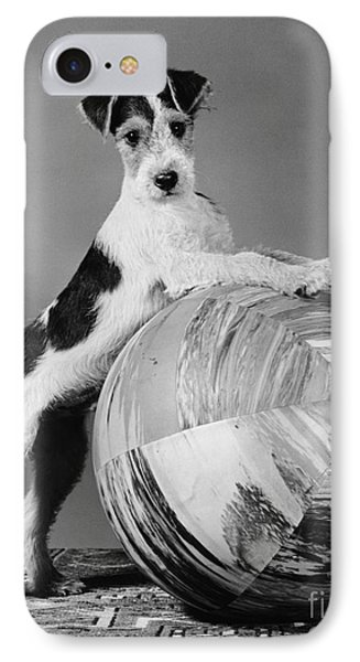 Terrier In Playful Pose, C.1940s IPhone Case