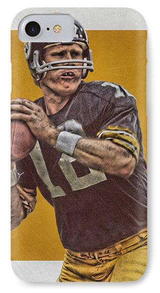 Terry Bradshaw Pittsburgh Steelers Art IPhone Case by Joe Hamilton