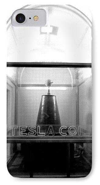 Tesla Coil Phone Case by Jera Sky