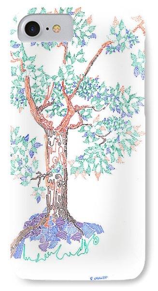 Tesselated Tree Phone Case by Regina Valluzzi