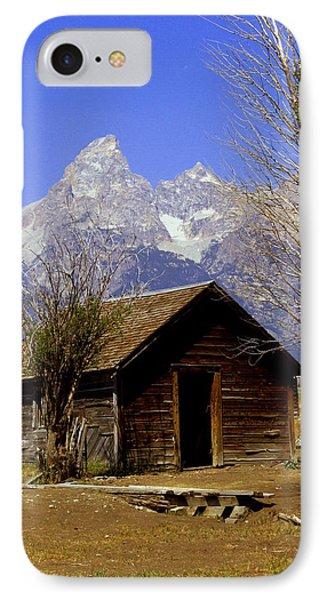 Teton Cabin Phone Case by Marty Koch