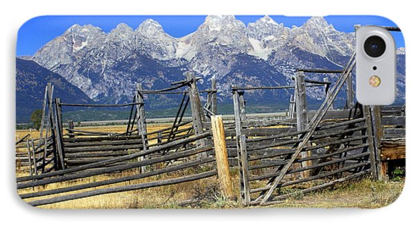 Teton Corral 2 Phone Case by Marty Koch