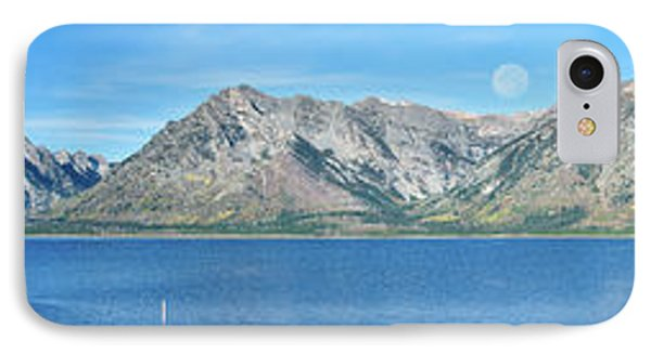 Teton Moonset Borderless Phone Case by Greg Norrell