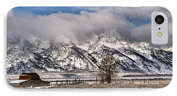 IPhone Case featuring the photograph Teton Mormon Homestead Panorama by Adam Jewell