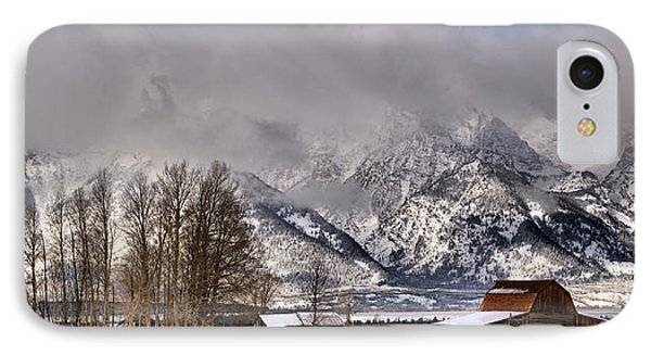 IPhone Case featuring the photograph Teton Mormon Row Panorama by Adam Jewell