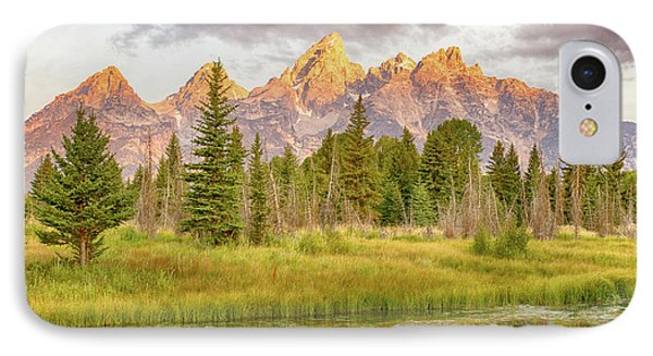 IPhone Case featuring the photograph Teton Morning by Mary Hone