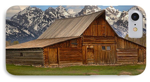 Teton Mountain Barn IPhone Case by Adam Jewell