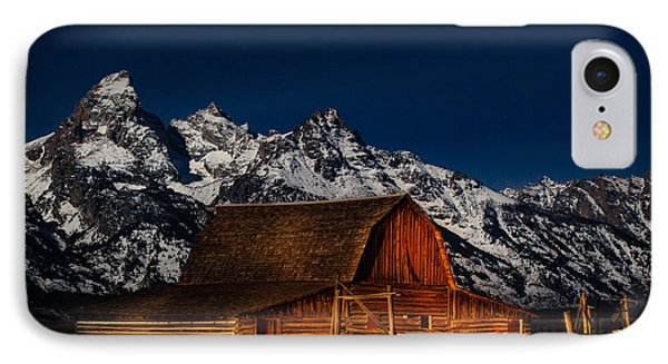 Teton Mountains With Barn IPhone Case