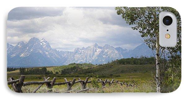 Teton Ranch IPhone Case by Diane Bohna