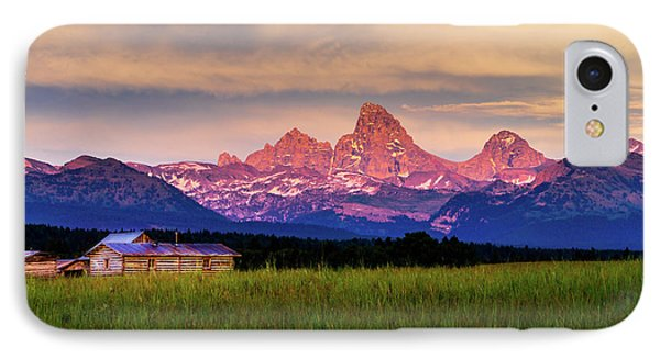 Teton Valley Sunset IPhone Case by TL  Mair