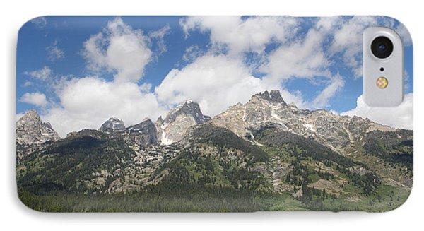 Teton View IPhone Case by Diane Bohna