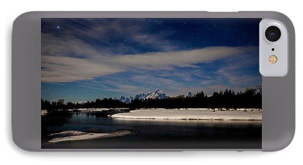 Tetons At Moonlight IPhone Case